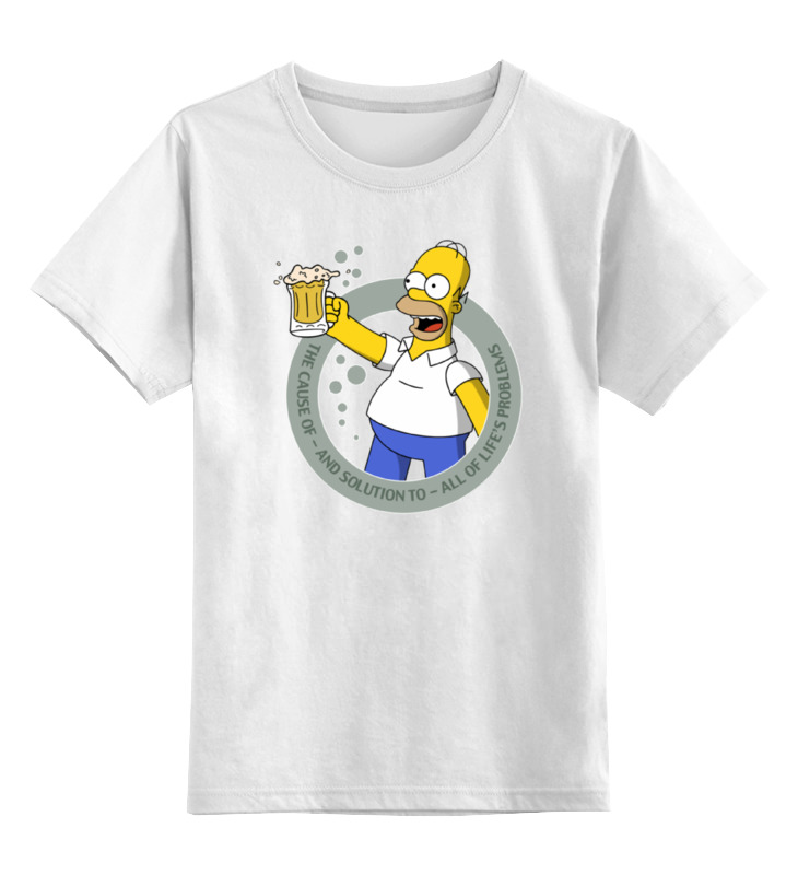 Детская футболка классическая унисекс Printio No problems (simpson) детская футболка классическая унисекс printio no smoking