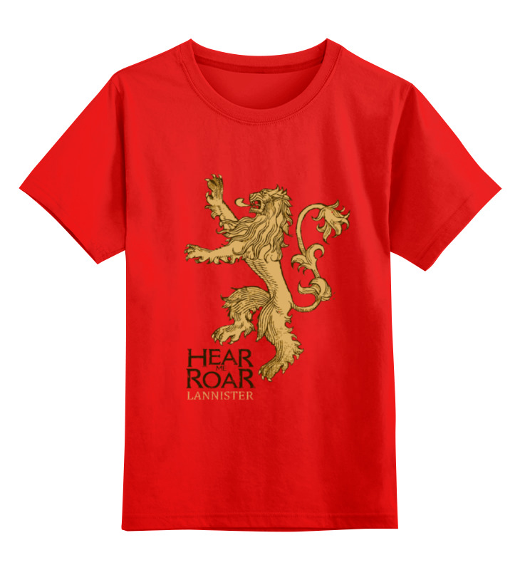 Детская футболка классическая унисекс Printio Lannister smoby детская горка king size цвет красный