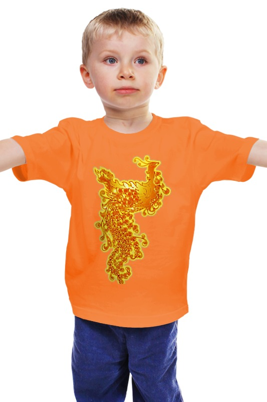 Детская футболка классическая унисекс Printio Жар-птица
