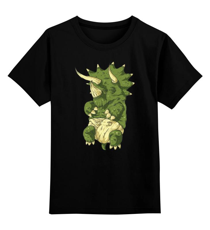 Детская футболка классическая унисекс Printio Dino baby / малыш динозавр