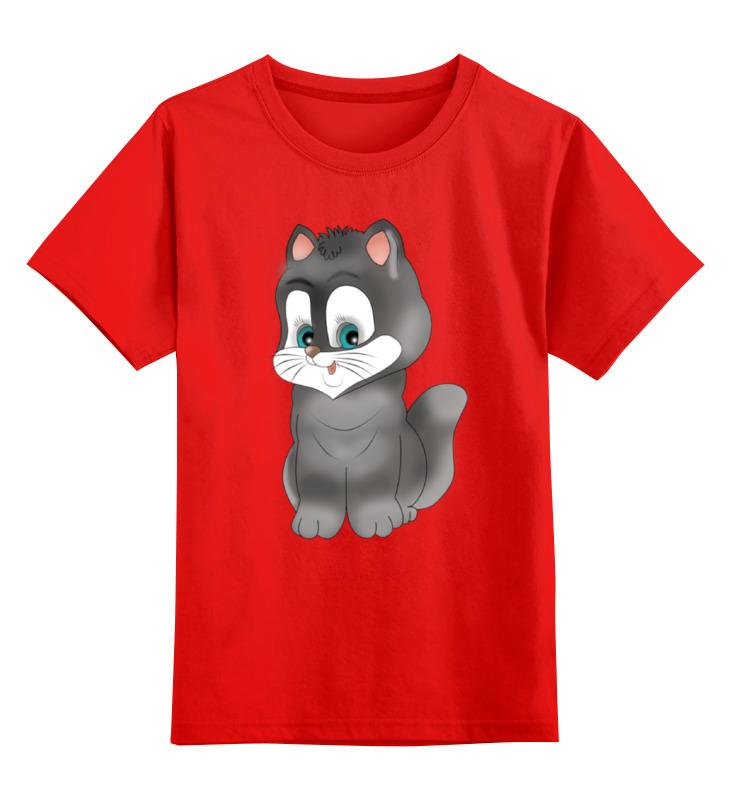 Детская футболка классическая унисекс Printio Котёнок smoby детская горка king size цвет красный