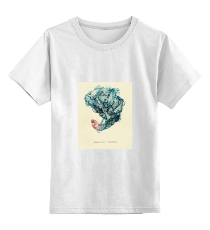 Детская футболка классическая унисекс Printio Social anxiety disorder футболка anti social social club