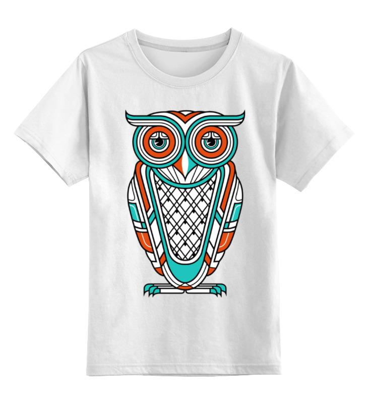 Детская футболка классическая унисекс Printio Сова (owl) цена и фото
