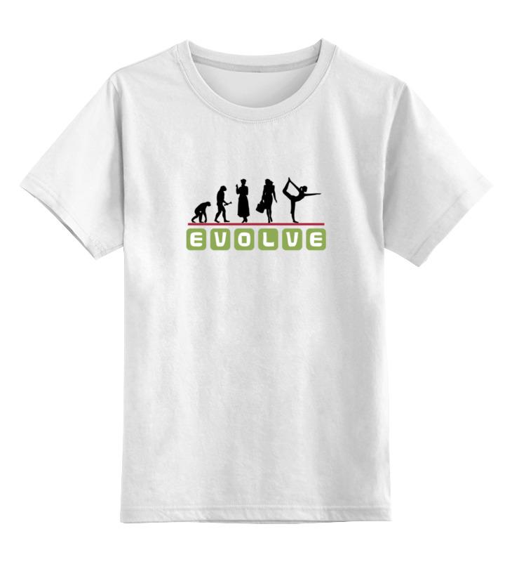 Детская футболка классическая унисекс Printio Йога (эволюция) футболка йога
