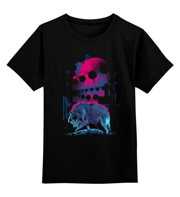 Детская футболка классическая унисекс Printio Крадущийся волк детская футболка классическая унисекс printio мотобайк
