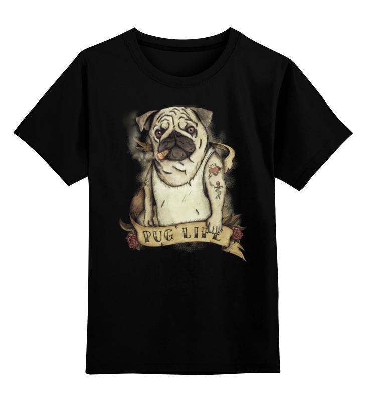 Детская футболка классическая унисекс Printio Жизнь мопса