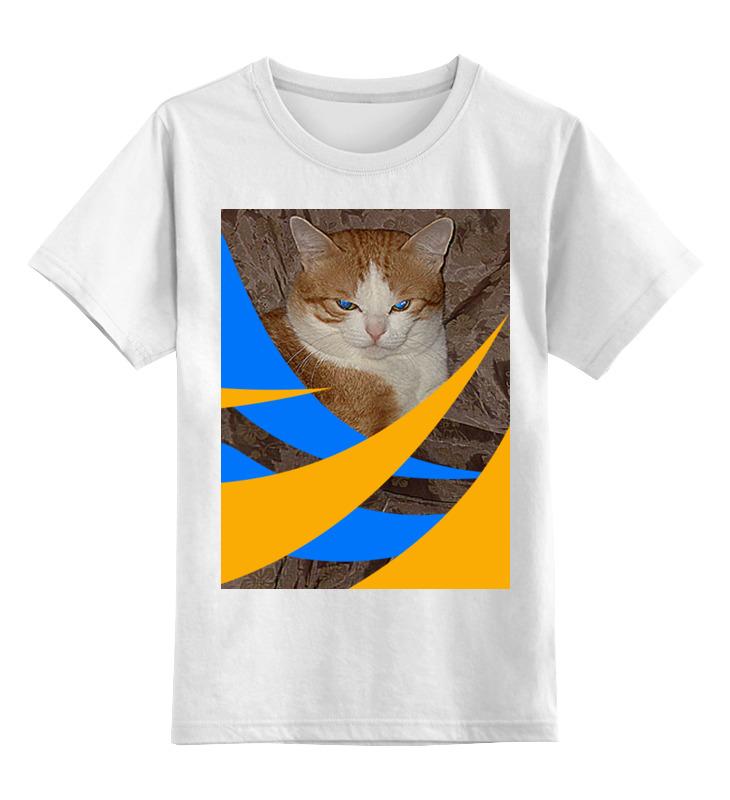 Детская футболка классическая унисекс Printio Синеглазый. цена и фото
