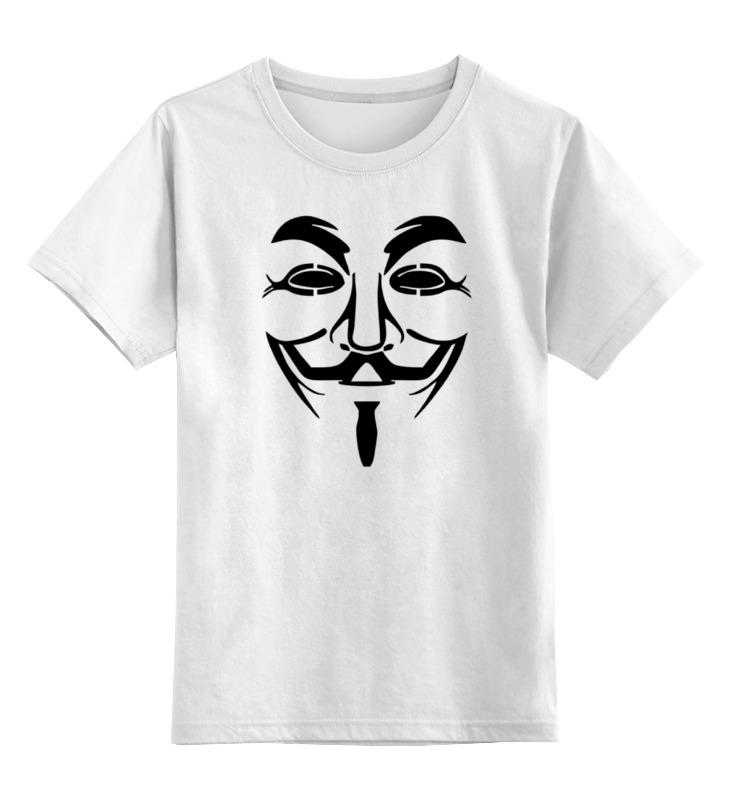 Детская футболка классическая унисекс Printio Anonymous цена