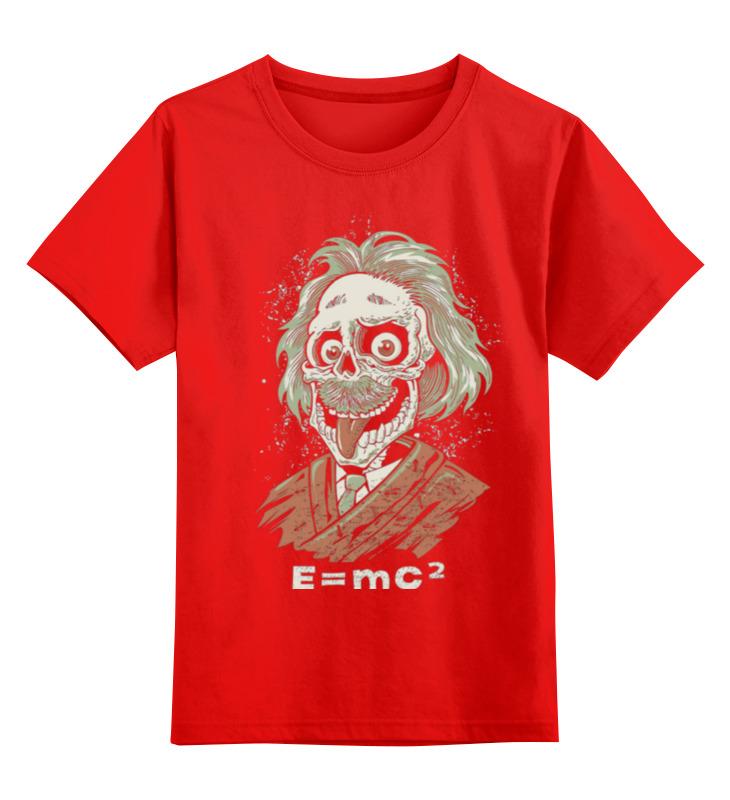 Детская футболка классическая унисекс Printio Зомби эйнштейн майка классическая printio зомби эйнштейн