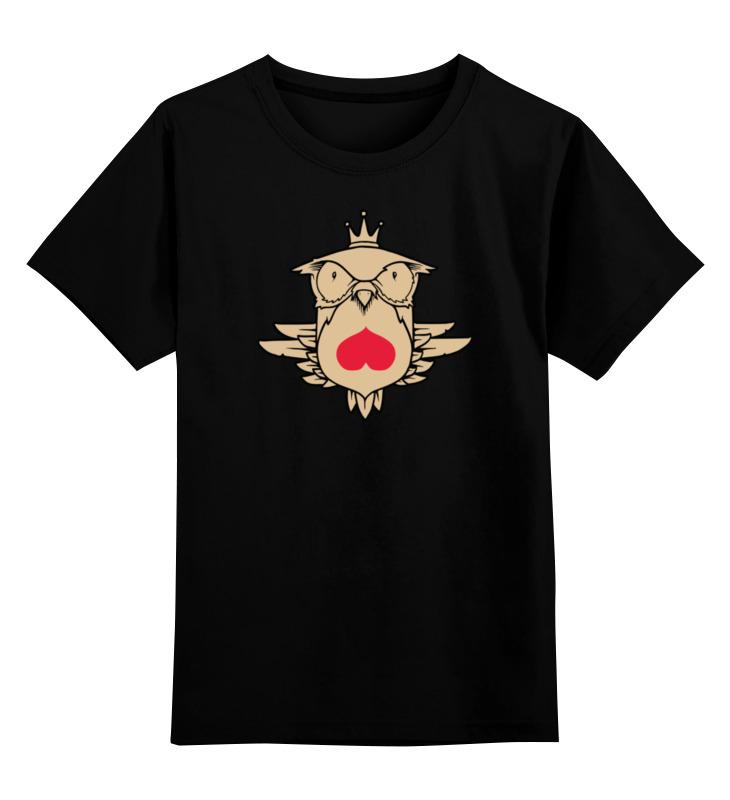 Детская футболка классическая унисекс Printio Owl heart / сова и сердце детская футболка классическая унисекс printio owl scull сова и череп