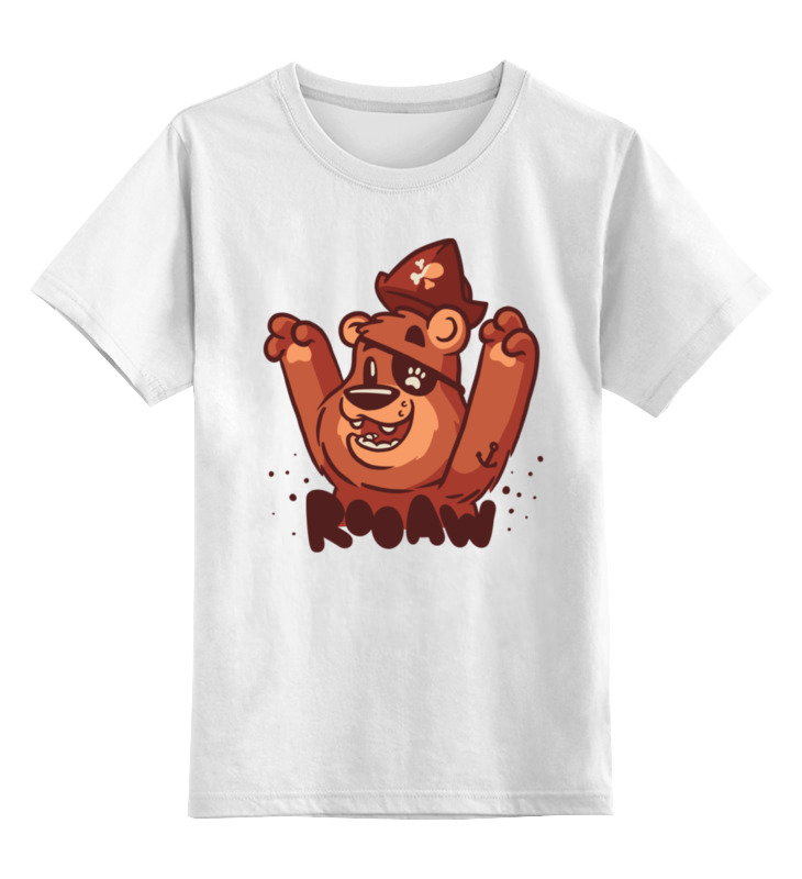 Детская футболка классическая унисекс Printio Мишка пират