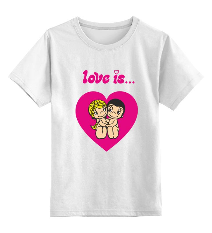 Детская футболка классическая унисекс Printio Love is... футболка детская picture organic love basic tee blue