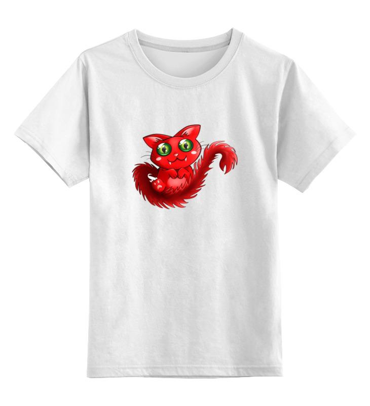 Детская футболка классическая унисекс Printio Кошечка вампир [zob] new original authentic omron omron proximity switch e2e x10mf2 z 2m