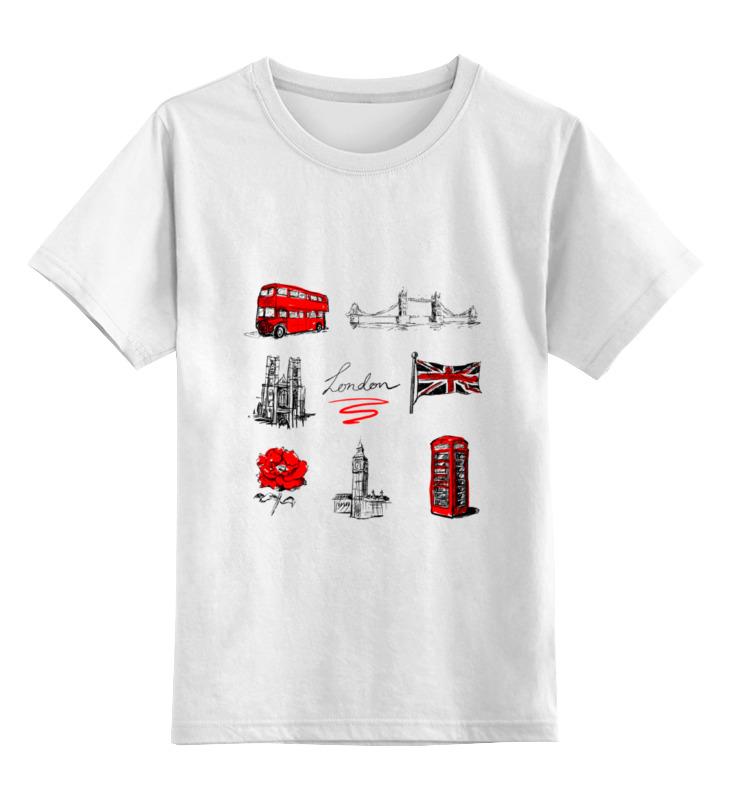 Детская футболка классическая унисекс Printio London футболка для беременных printio london
