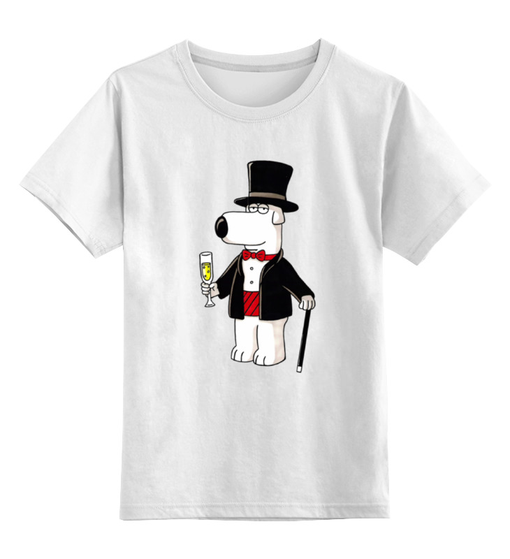 Детская футболка классическая унисекс Printio Brain griffin griffin чехол книжка griffin универсальный 7 кожзам ткань красно коричневая