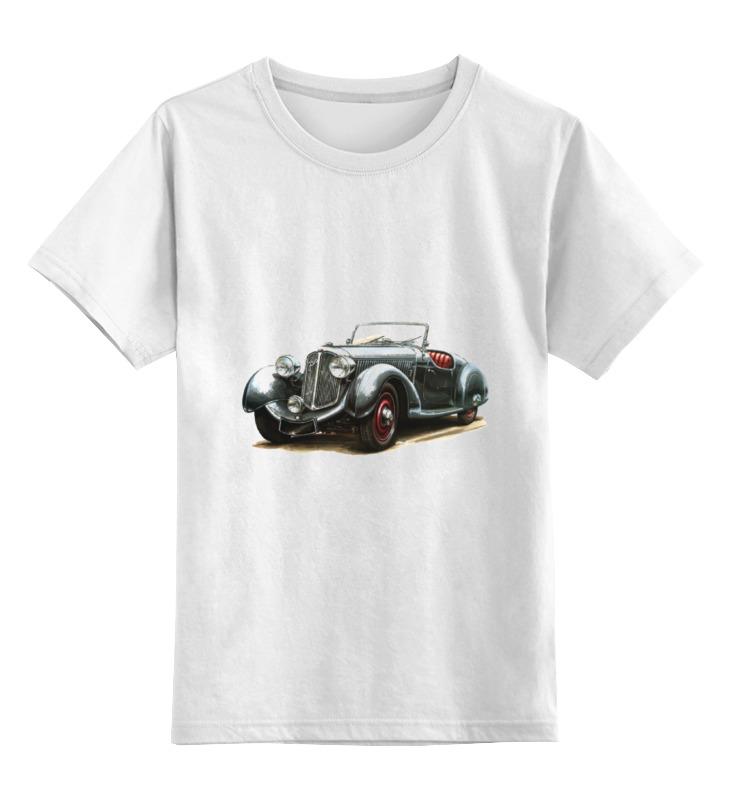 Детская футболка классическая унисекс Printio Ретроавтомобили 7 цена и фото