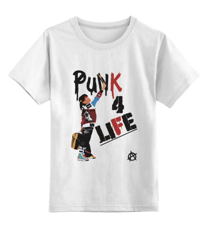 Детская футболка классическая унисекс Printio Punk 4 life