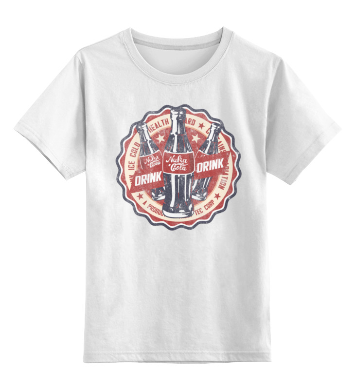 Детская футболка классическая унисекс Printio Fallout. nuka-cola футболка классическая printio fallout фэллаут