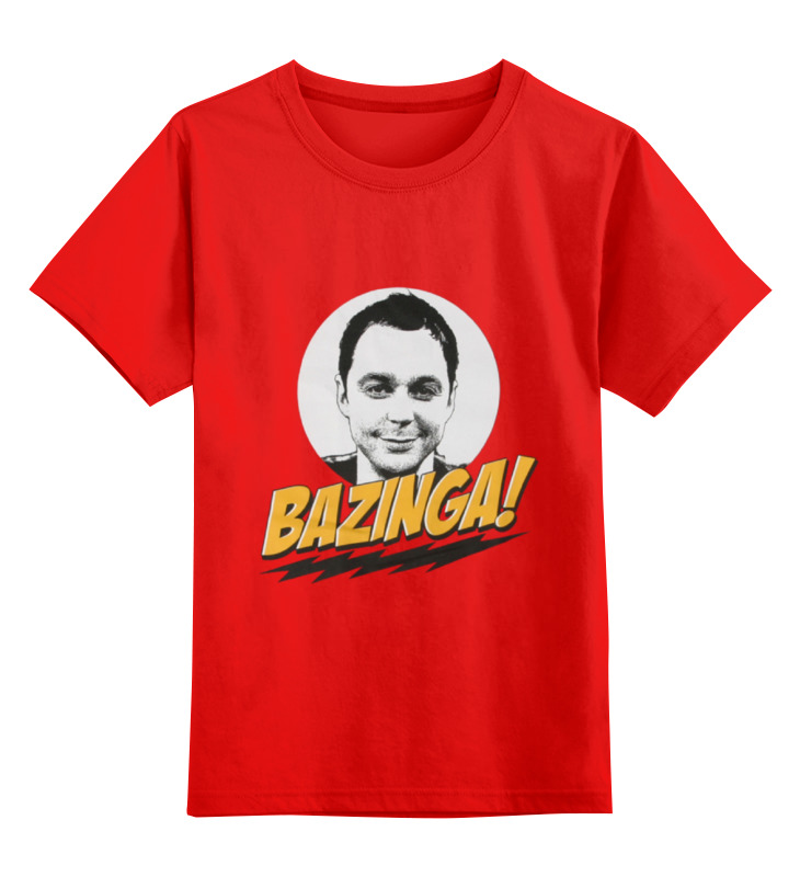 Детская футболка классическая унисекс Printio The big bang theory sheldon cooper the big bang theory series the flash design cotton t shirt red size m
