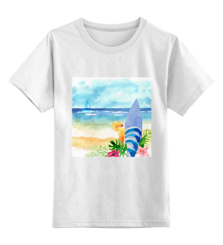 Детская футболка классическая унисекс Printio Пляжная