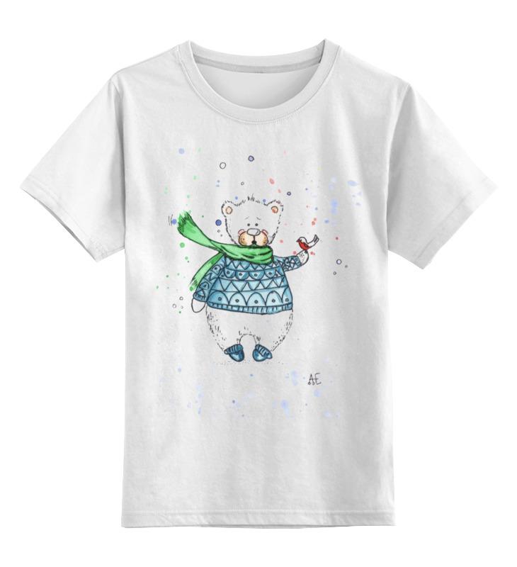 Детская футболка классическая унисекс Printio Белый мишка фиксатор двери мир детства мишка