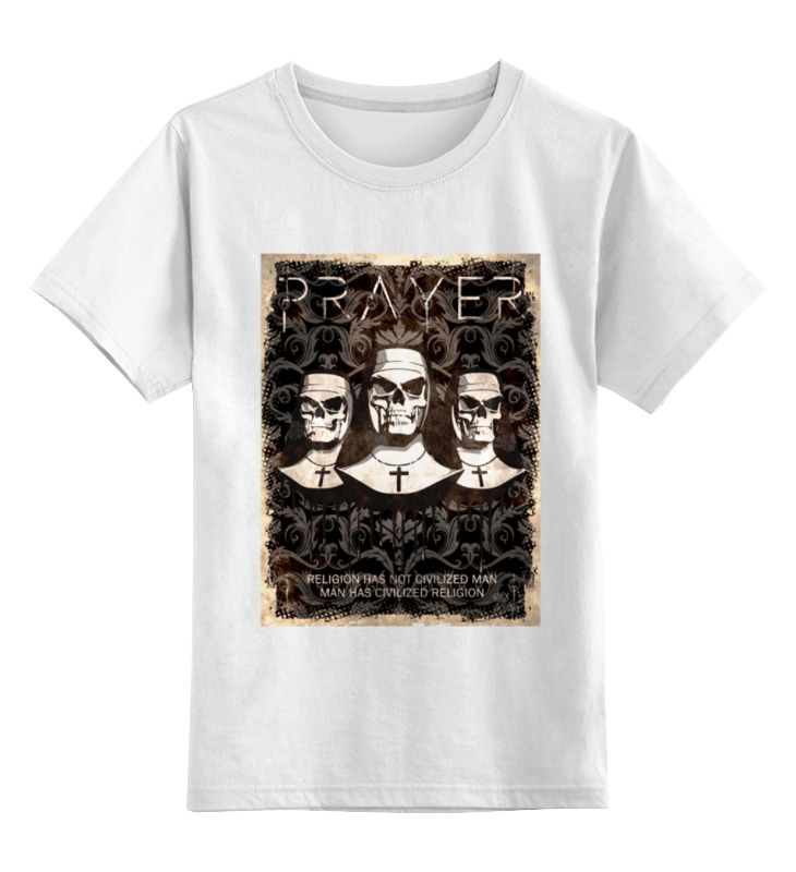 все цены на Детская футболка классическая унисекс Printio Prayer \ religion has not civilized man...