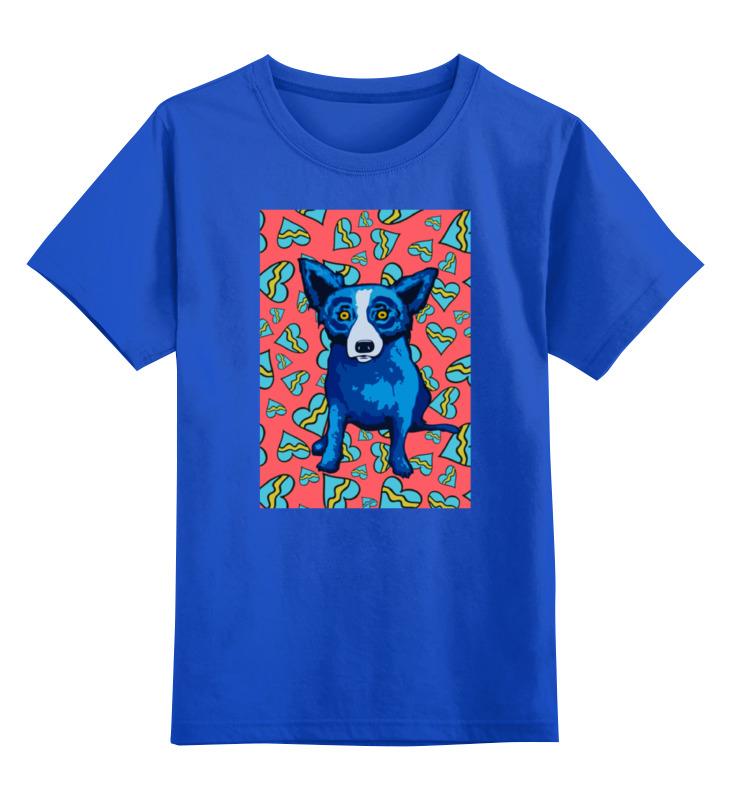 Детская футболка классическая унисекс Printio Синий пес костюмы для животных ай да пес зайка небесный