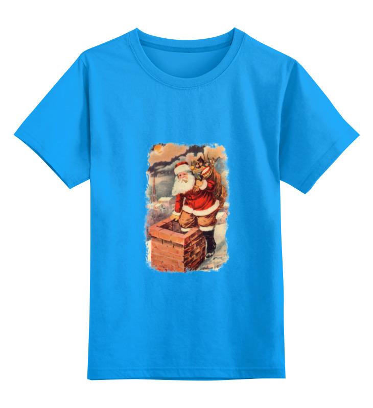 Детская футболка классическая унисекс Printio Дед мороз в трубе лонгслив printio дед мороз в трубе