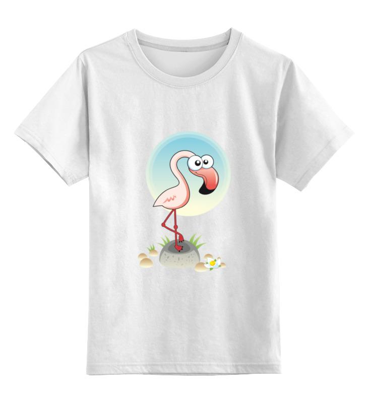 Детская футболка классическая унисекс Printio Розовый фламинго футболка классическая printio розовый фламинго 1