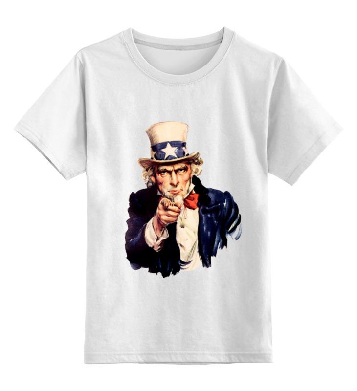 Детская футболка классическая унисекс Printio Uncle sam футболка классическая printio i want you raiden