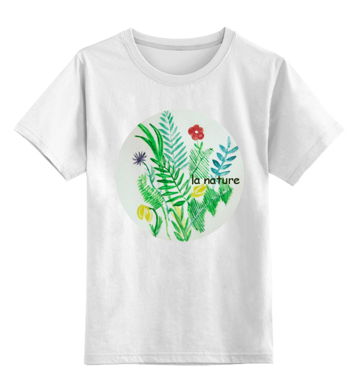 Детская футболка классическая унисекс Printio Растения растения