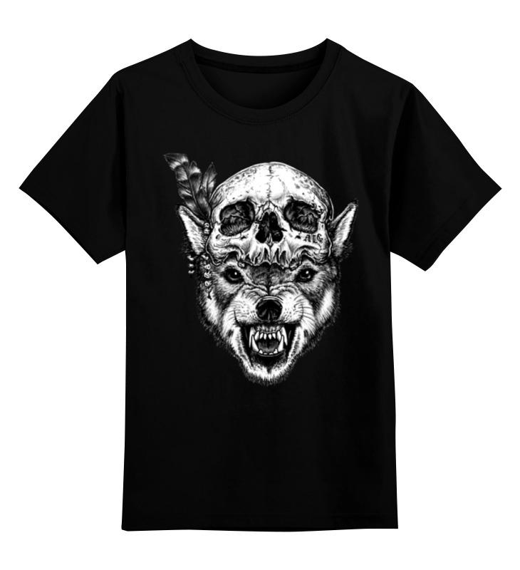 Детская футболка классическая унисекс Printio Wolf & skull детская футболка классическая унисекс printio lone wolf
