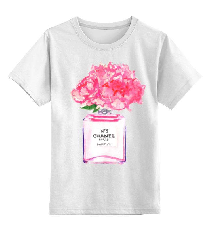 Детская футболка классическая унисекс Printio Флакон цветочных духов