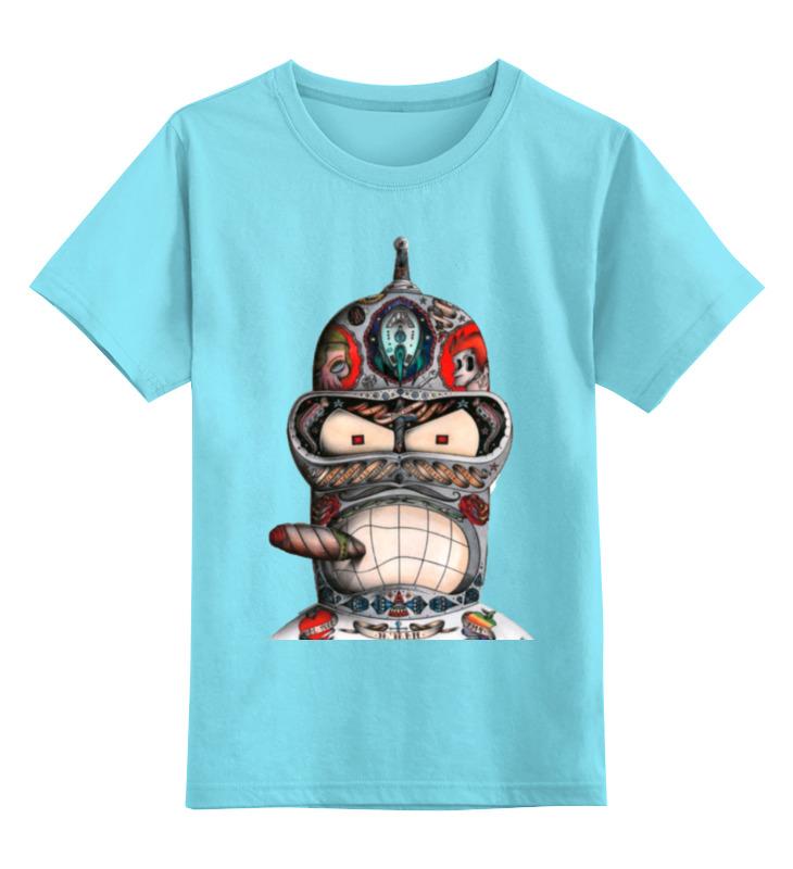 Детская футболка классическая унисекс Printio Бендер из футурамы детская футболка классическая унисекс printio карандаш и самоделкин