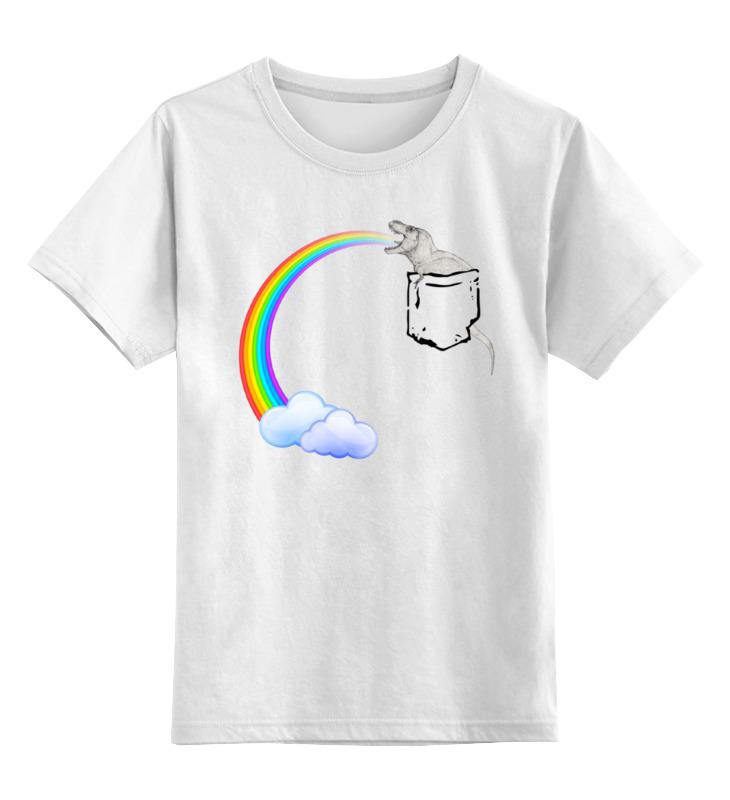 Детская футболка классическая унисекс Printio Динозавр и радуга микроволновая печь mystery mmw 2006