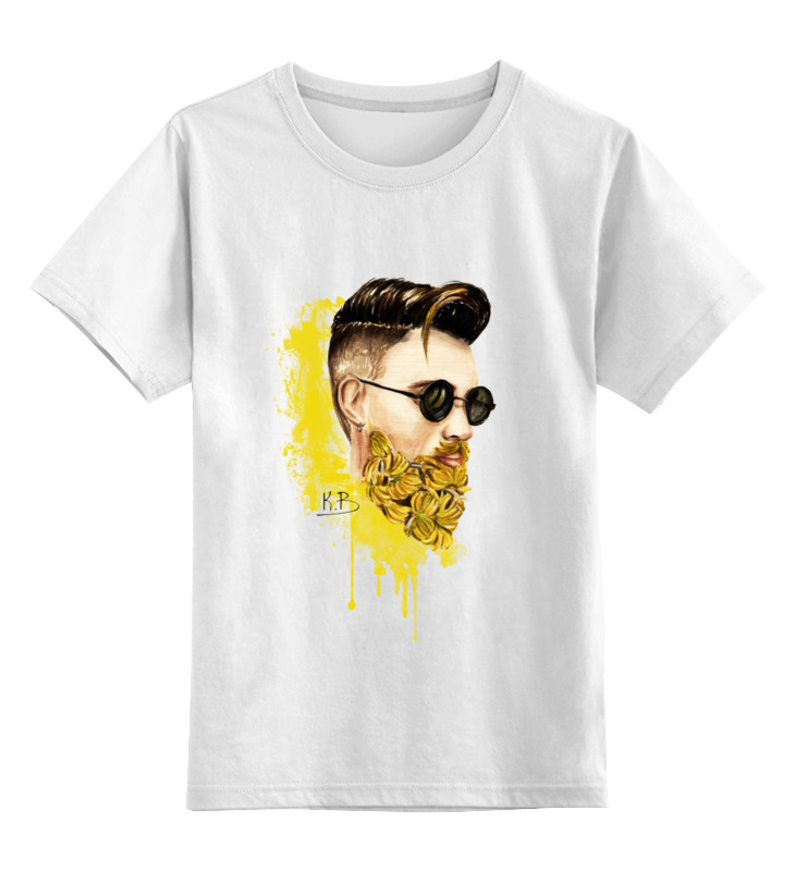 Детская футболка классическая унисекс Printio Банановый бородач