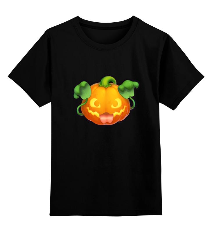 Детская футболка классическая унисекс Printio Pumpkin halloween paper pumpkin candle lantern orange