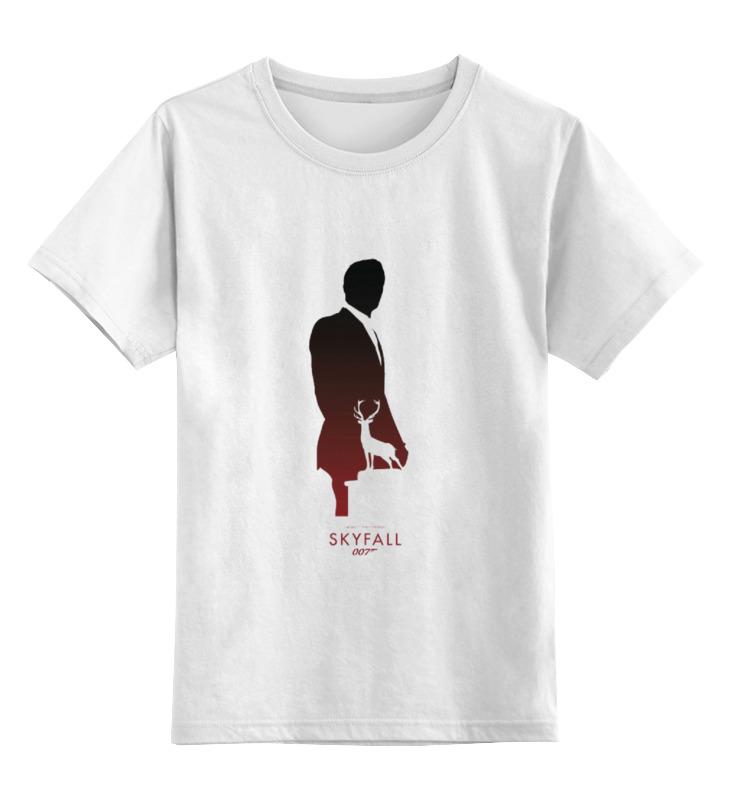 """Детская футболка классическая унисекс Printio 007: координаты """"скайфолл. майка классическая printio 007 координаты """"скайфолл"""