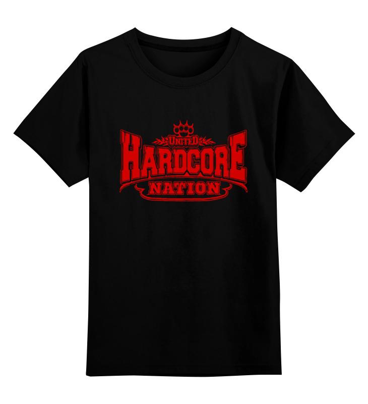 Детская футболка классическая унисекс Printio United hardcore nation yo zuri hardcore surface crank