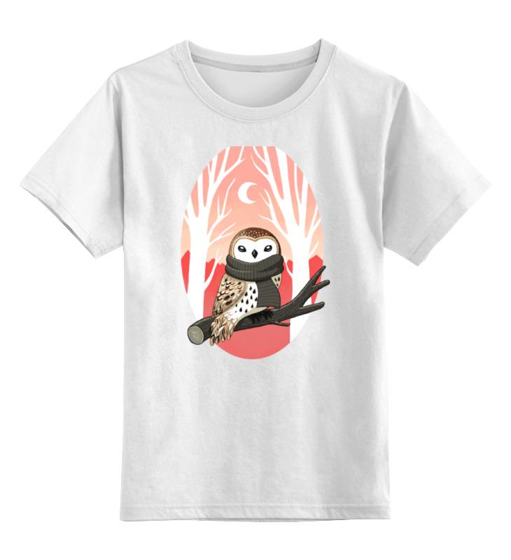 Детская футболка классическая унисекс Printio Зимняя сова зимняя резина на оку в москве