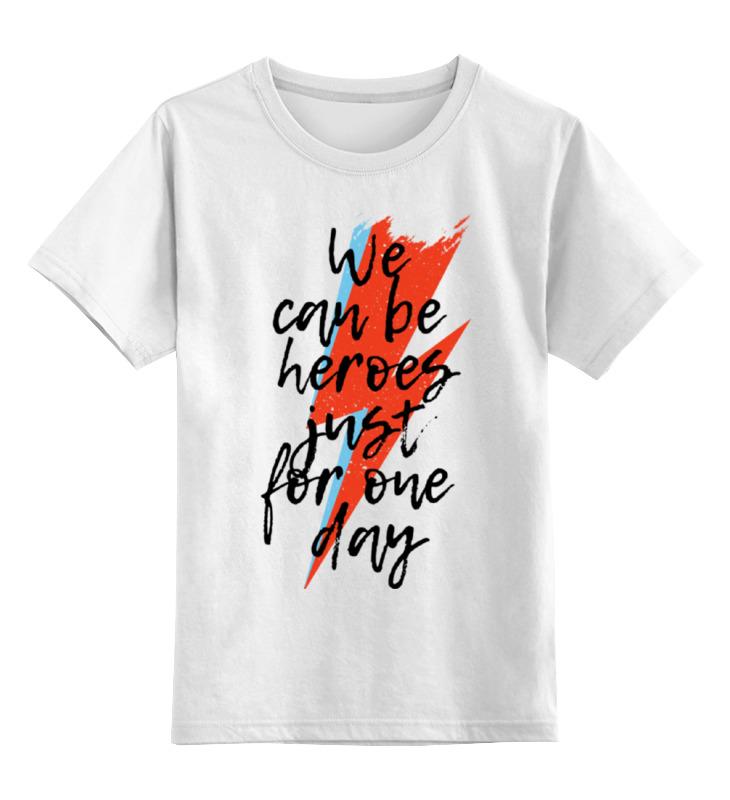 Детская футболка классическая унисекс Printio Heroes. дэвид боуи