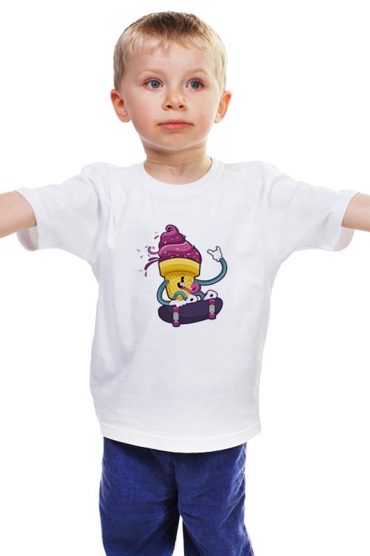 Детская футболка классическая унисекс Printio Мятежное мороженое
