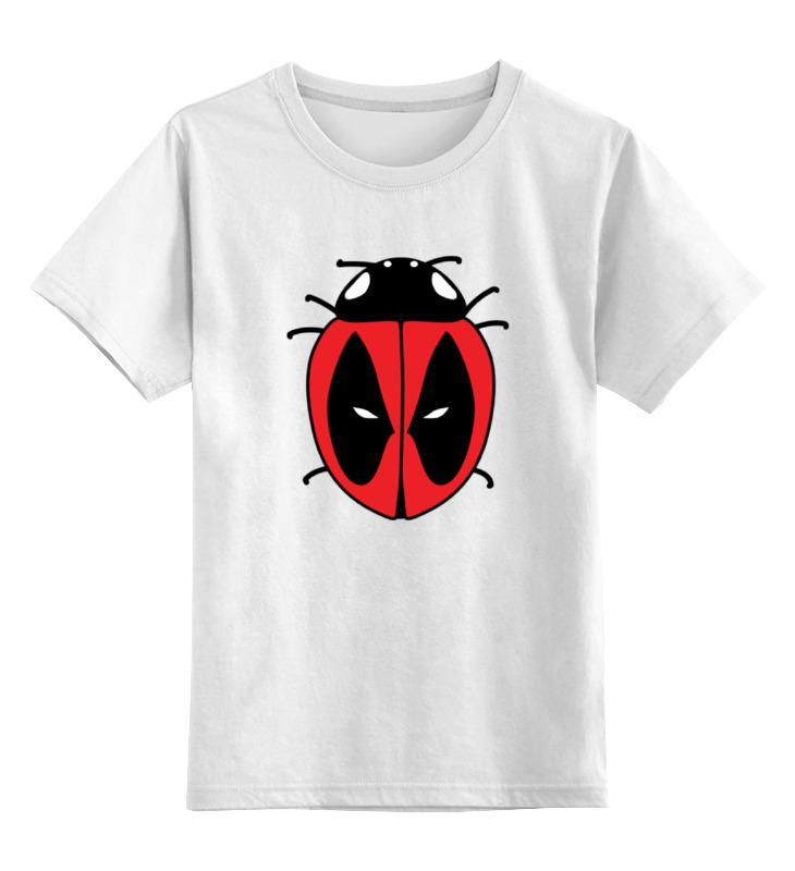 Детская футболка классическая унисекс Printio Дэдпул (божья коровка)
