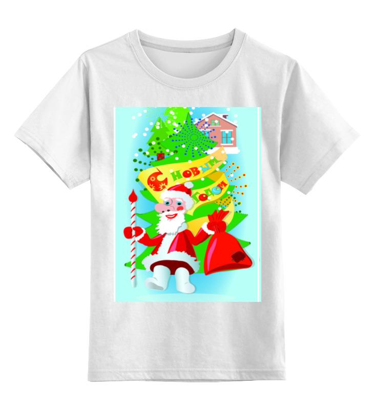 Детская футболка классическая унисекс Printio С новым годом disney гирлянда детская на люверсах с новым годом тачки 198 см
