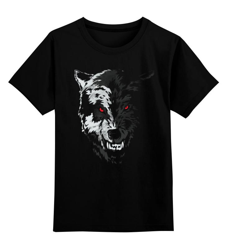 Детская футболка классическая унисекс Printio Волчий оскал волчий круг