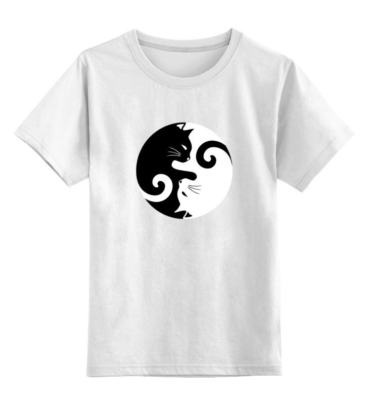 Детская футболка классическая унисекс Printio Инь и янь