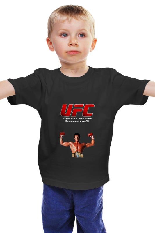 Детская футболка классическая унисекс Printio Ufc смешанные единоборства рокки черная ufc 2 ps4
