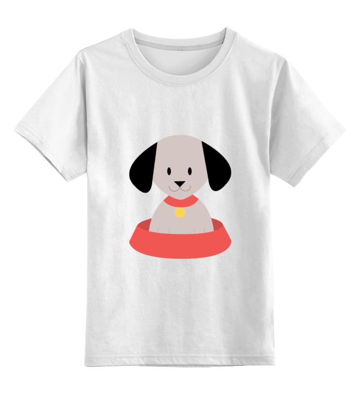 Детская футболка классическая унисекс Printio Щенок