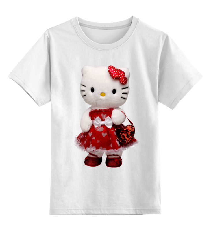 Printio Кошка кити.игрушка. мульт. kitty. детская футболка классическая унисекс printio медведь мягкая игрушка любимый мульт