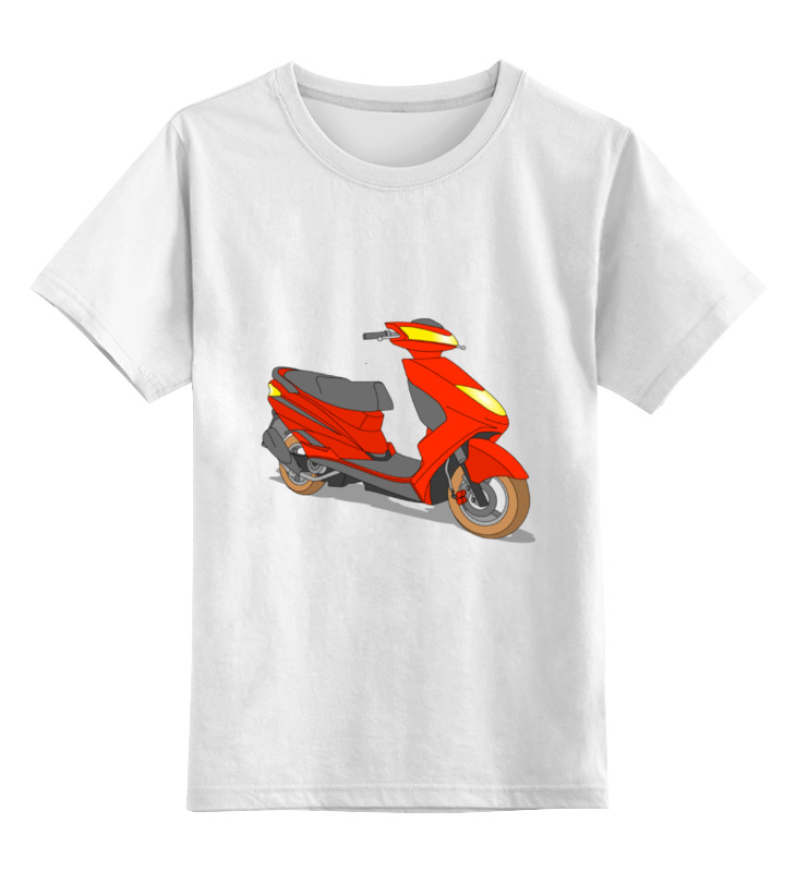 Детская футболка классическая унисекс Printio Мопед куплю мопед рига в челябинске